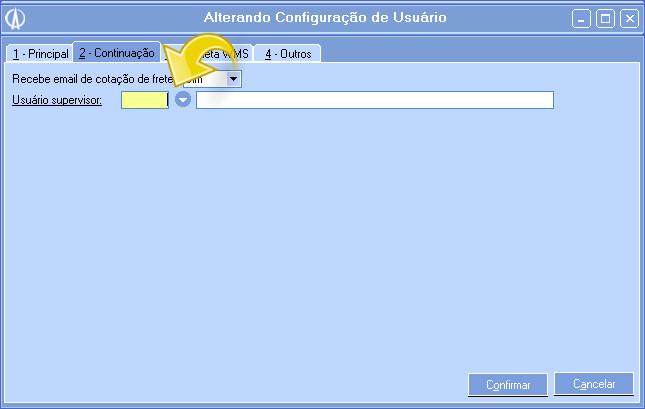 Alterando configurações de usuário.