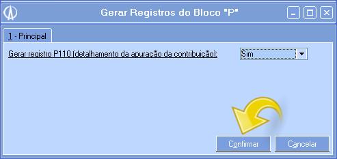 Gerar registro P110.