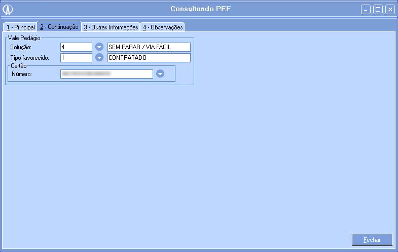 Consultando PEF.
