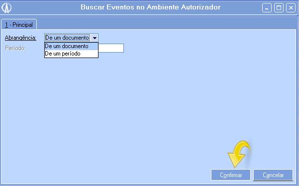 Buscar Eventos no Ambiente Autorizador
