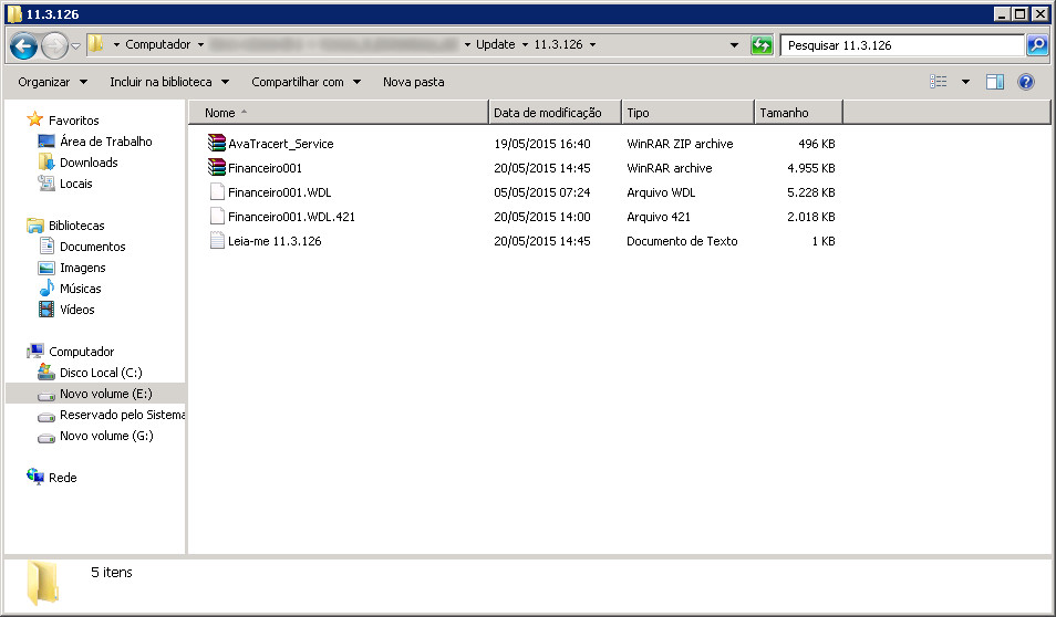 Extraindo arquivos FINANCEIRO001.WDL