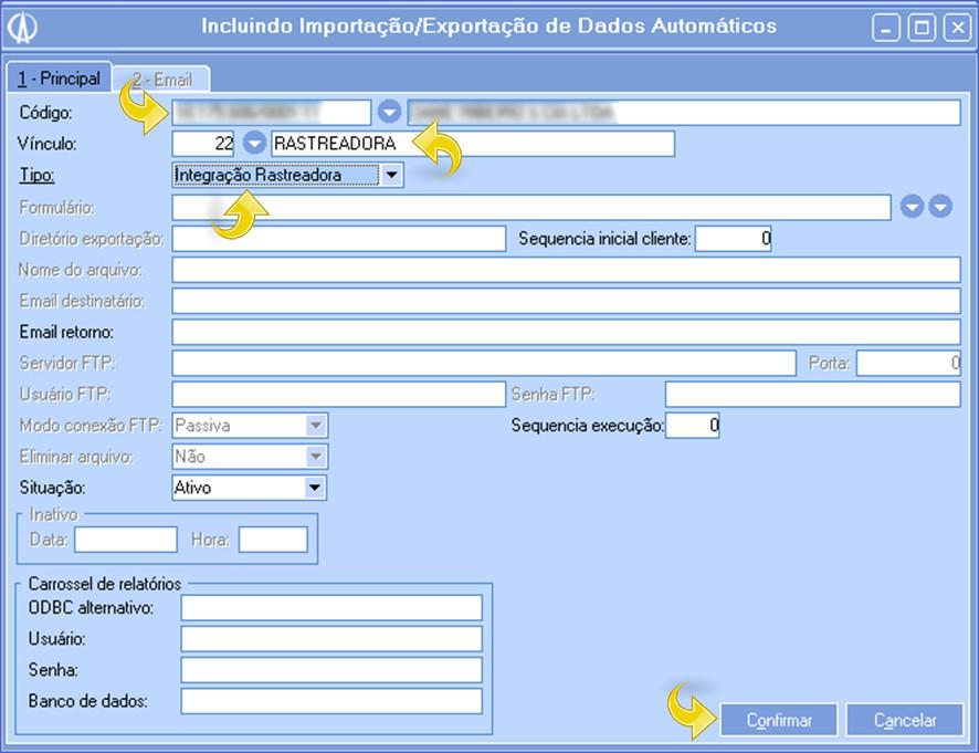 Incluindo Importação/Exportação de Dados Automáticos
