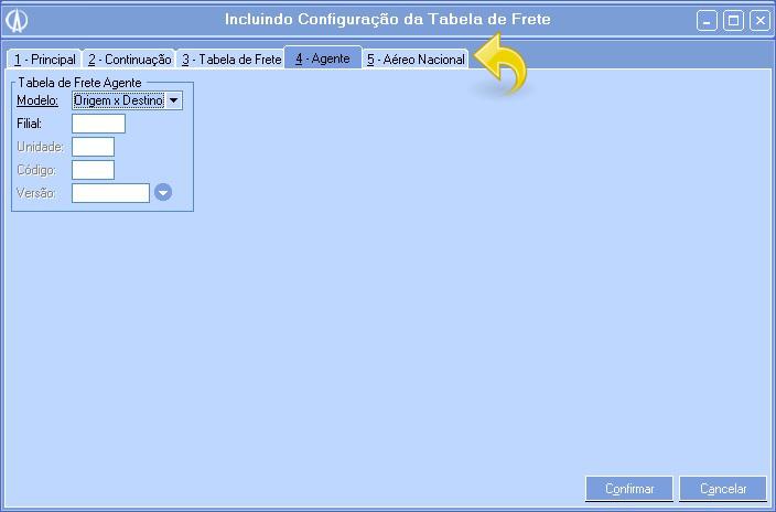 Incluindo Configurações da Tabela de Frete