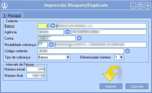 Impressão Bloqueto/Duplicata