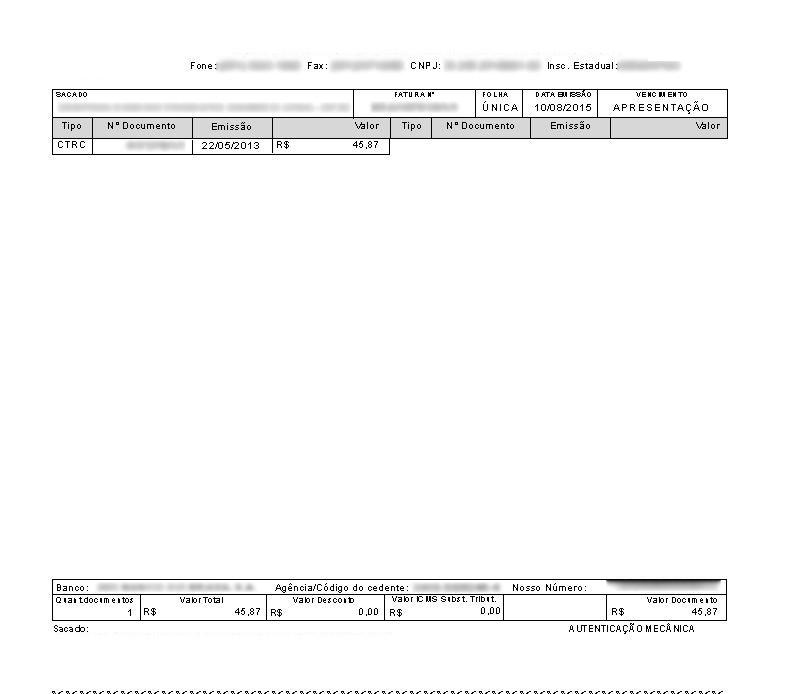 Documento impresso