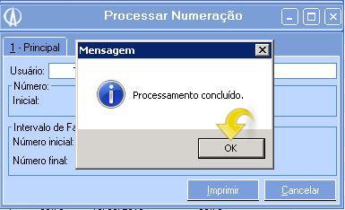 Processar Numeração