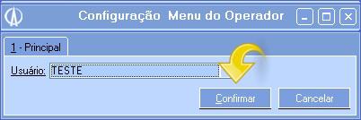 Configuração Menu do Operador