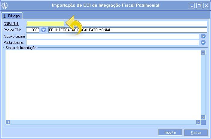 Importação de EDI de Integração Fiscal Patrimonial