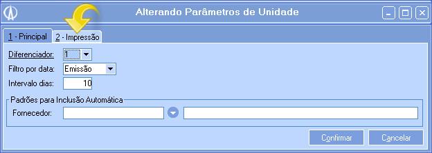 Parâmetros Unidade 1 - Principal