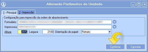 Parâmetros unidade 2 - Impressão
