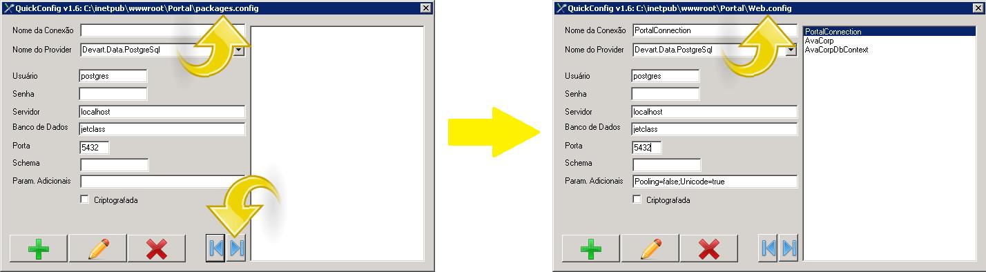 Selecionando arquivo Web.config.