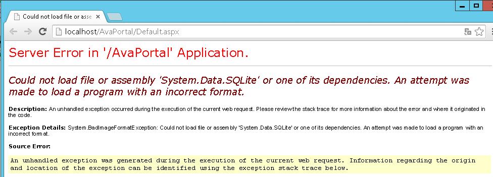 Erro ao acessar Portal.
