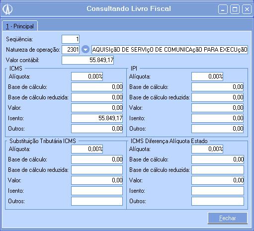 Consultando Livro Fiscal