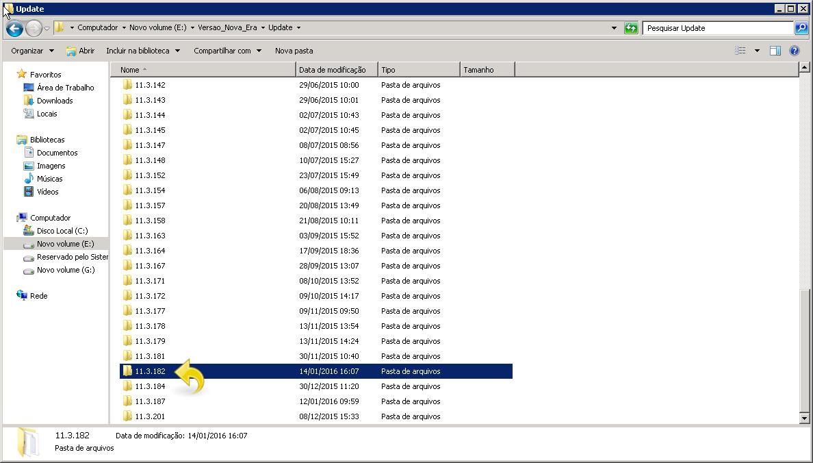 Acessando o arquivo manualmente