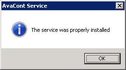 O serviço foi propriamente instalado