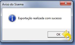 Mensagem de sucesso