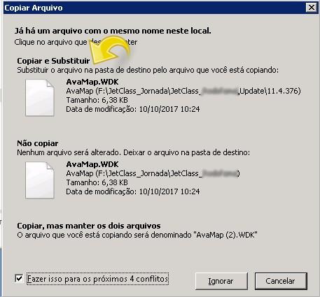 Substituindo os arquivos