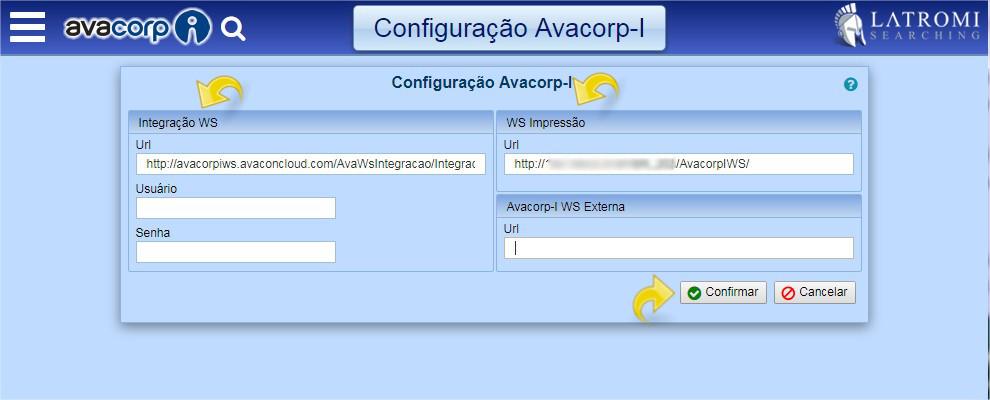 Configurando o AvacorpIWS.