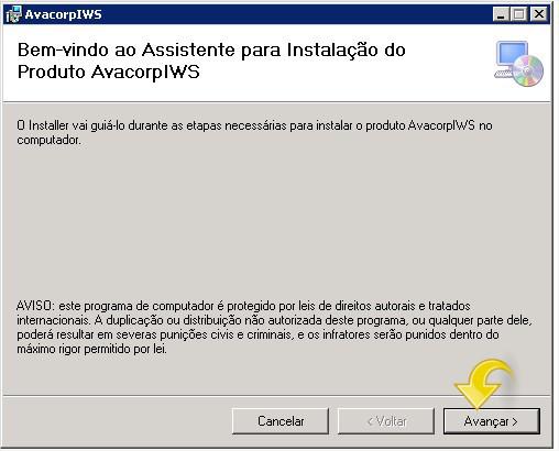 Instalando o AvacorpIWS.