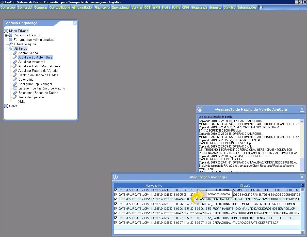 Iniciando a atualização do Avacorp I.